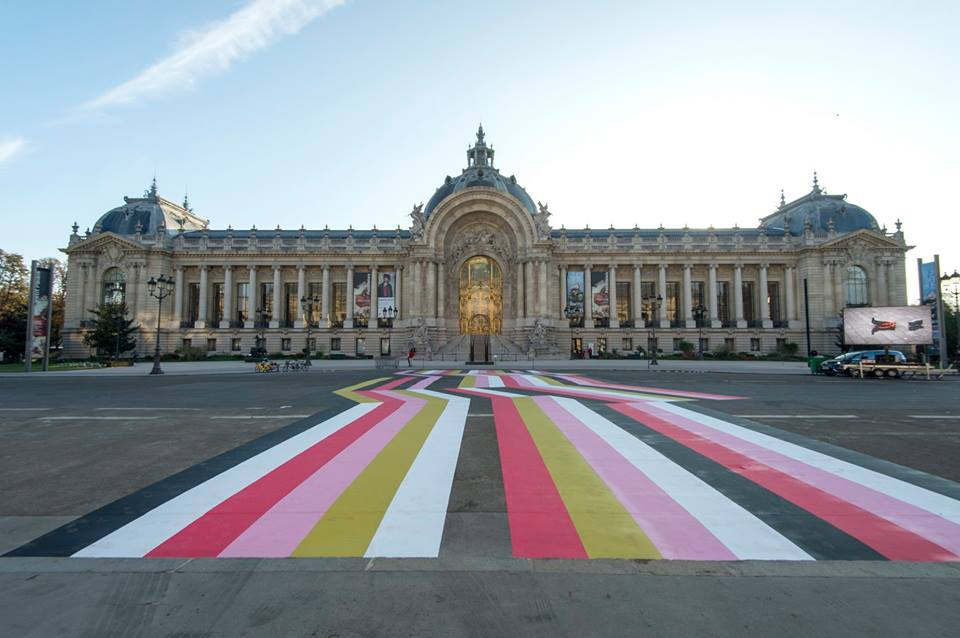 "Fiac 2019 : ""Street Painting #10"" by LANG & BAUMANN, 2018.  Loevenbruck Gallery. © Marc Domage"